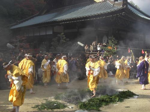 宮島 大聖院で 火渡り式14