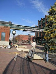 Distillery District construction for street vendors