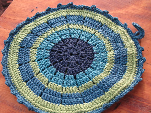 Front of the potholder from Aagje