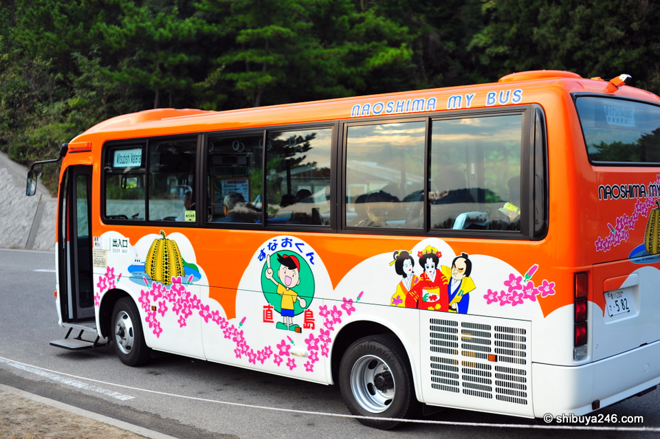 The community bus that takes you from one side of the island to the other