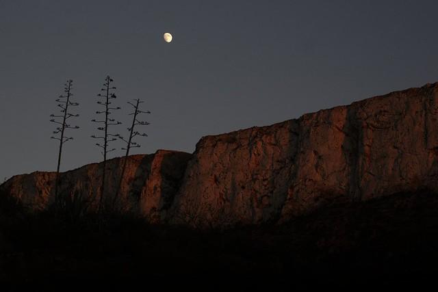 Luna creciente sobre el tajo