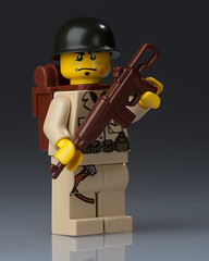 WW2 American Paratrooper (~Ghost Soldier~) Tags: brown cool lego m1 ghost american ww2 parachute carbine paratrooper brickarms soldier2010
