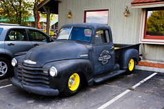 "Old, flat black Chevy Pickup • <a style=""font-size:0.8em;"" href=""http://www.flickr.com/photos/29931407@N00/5195463545/"" target=""_blank"">View on Flickr</a>"