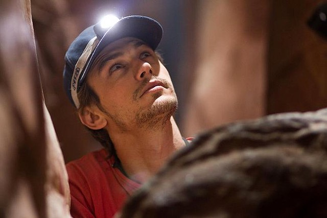 James Franco is stuck pinned to a rock for '127 Hours'.