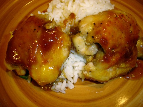 Ginger-Soy Chicken Thighs w/Scallion Rice