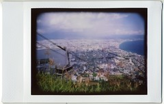 Hakodate #21 (miwas) Tags: landscape lomo lca view toycamera instant vignetting hakodate  ropeway instax  instaxmini mounthakodate lcainstantback