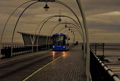 Last tram of the day (bobbrooky) Tags: uk england train evening pier seaside nikon places coastal fullframe southport merseyside irishsea d700