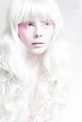 White Doll #4 (Hiroshima Photography) Tags: pink white green hair eyes long pale curly porcelain bedky hiroshimaphotography