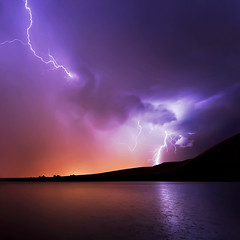 Beside the lake of my soul, I stand (Dylan MacMaster) Tags: lake storm reflection rain clouds lightning lightpollution fotocompetitionbronze fotocompetitionsilver fotocompetitiongold