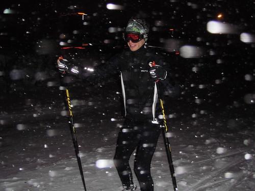Årets första skidpass.