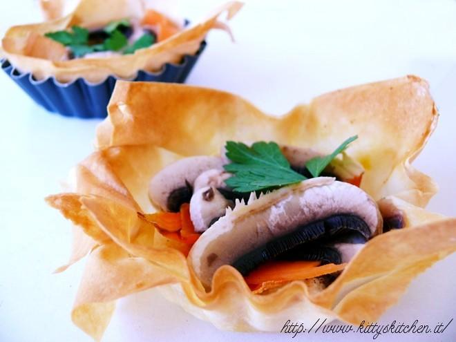 Tartellette robiola champign e zucca