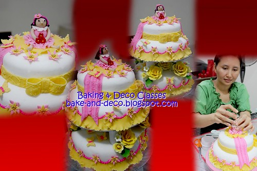 Batch 19 Nov 2010: Three tier & stack fondant cake with figurines