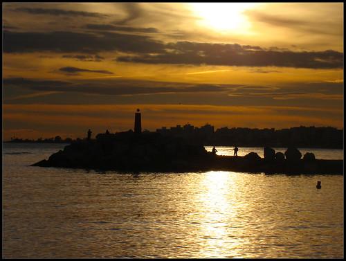 Anochece en Torre del Mar