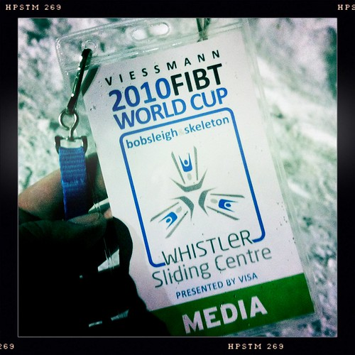 At the Whistler Sliding Centre for Mens Skeleton