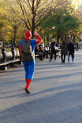 Spiderman in Central Park