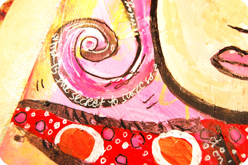 Art Journal detail: swirly curl