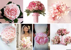 Pink Bridal Wedding Bouquets (One White Dress) Tags: pink flowers wedding inspiration flower color colour floral beautiful photo pretty photos theme florist bouquet weddings bridal ideas stylish posy centrepiece