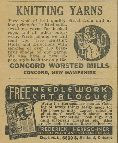 knitting yarns and needlework catalogue