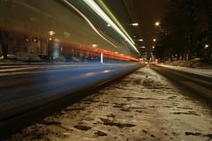 lijn 7 (Jesper2cv) Tags: schnee snow motion netherlands amsterdam movement tripod sneeuw nederland siemens tram bewegung neige paysbas mouvement strassenbahn niederlande amsterdamoost beweging gvb ov combino stadsarchief indischebuurt insulindeweg lijn7