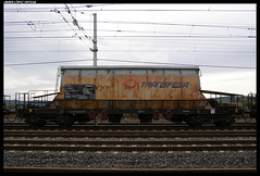 Taoos/PTT de Transfesa (javier-lopez) Tags: train tren trenes railway arena ptt arboç vagón adif ffcc tolva tolvas mercancías taoos 03042007 potasa transfesa villafría l'arboç