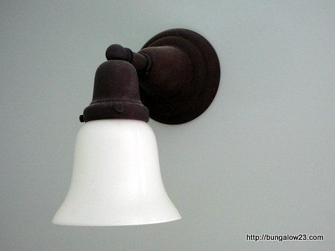 Sconce in bedroom