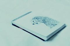 Random find 33/365 020211 (Carmen's Year) Tags: pencil notebook sketch drawing pad leopard cheetah feb whoknows hpad020211