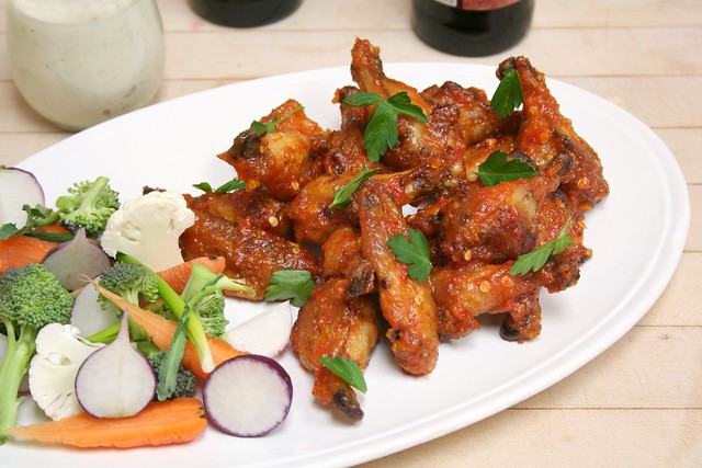 Spicy Apricot Glazed Chicken Wings with Apple Cider-Blue Cheese ...