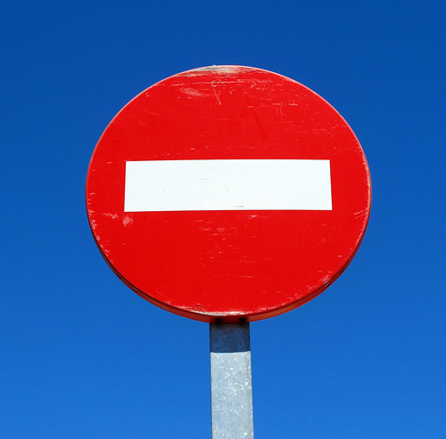 European no entry sign