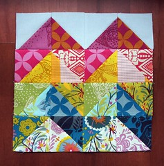 VIBees - February Block for Kelly (Cut To Pieces) Tags: quilt fabric patchwork zigzag quiltblock vibee goodfolks quiltingbee annamariahorner