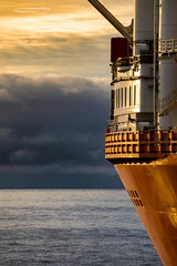 FPSO side light. (Squareburn) Tags: arctic midnightsun hammerfest norway barentssea offshore fpso