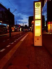 Berlin Tram Station (Kubilay Yu.) Tags: berlin strasenbahn tram alexanderplatz bvg berliner verkehrsbetriebe nacht