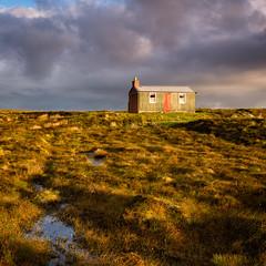 Peat Cutters Hut (MF65) Tags: 2017 d800 bog building clouds cottage grass hut moor peat storm sunlight water scotland unitedkingdom
