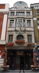 Fox and Anchor Pub & Hotel, Charterhouse Street, London (surreyblonde) Tags: buildings architecture london uk brickwork londonskyline bygone sony a6000 foxandanchorpub charterhousestreet smithfields market royaldoultonfacade lathamawithall artdeco artnouveau williamjneatby victorian