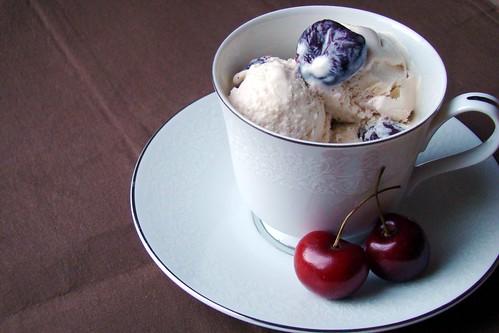 roasted cherry coconut ice cream