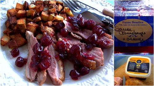 Barbecued Duck Breast With Orange Cranberry Sauce And Healthy Fries