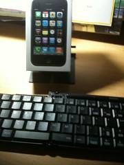 iPhoneが一台しかないので、箱で代用