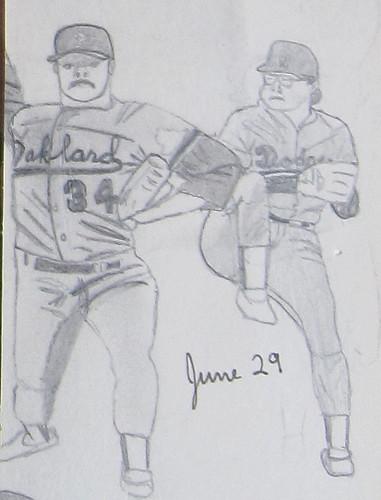 Dave Stewart and Fernando Valenzuela
