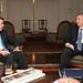 Juan Manuel Santos y  Nestor Kischner.
