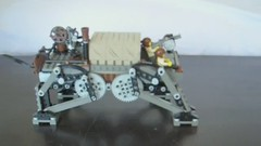 Medium Steam Quad-Walker Mk.LV (video) (aillery) Tags: war lego military great transport steam walker machines legged steampunk variant