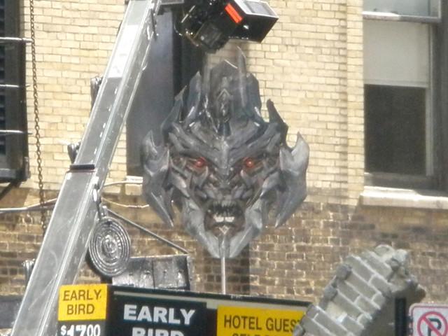 cabeza de Megatron en Transformers 3