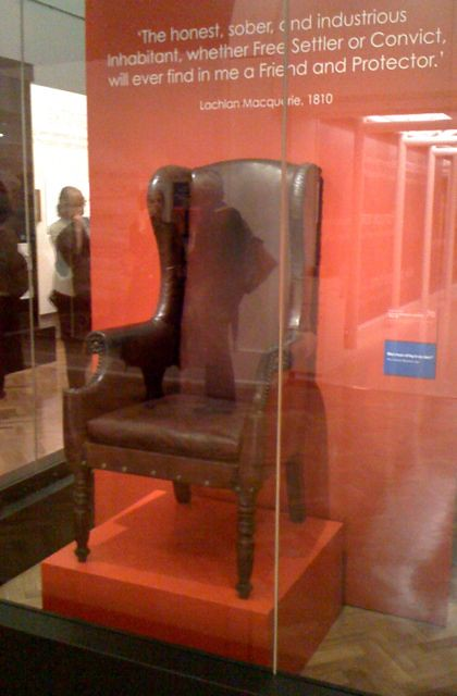 Governor Macquarie's chair