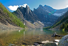 Lake Agnes - Canadian Rockies (Andr Distel Photography) Tags: blue trees lake snow mountains calgary water delete10 delete9 lens rockies delete5 delete2 rocks jasper hiking delete6 delete7 turquoise save3 sigma delete8 delete3 delete delete4 save save2 save4 canoes alberta banff rockymountains save5 lakelouise moraine morainelake larchvalley canadianrockies rockflour sentinelpass nikond60 sigma18200hsmos andredistel tgamcottagecamping deletedbythehotboxuncensoredgroup