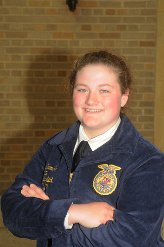 "Lydia Shumaker, a recent graduate of Palmer, Alaska High School and a FFA officer, says her association with the FFA was ""the best thing to ever happen to me."""