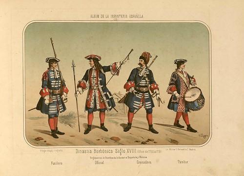 008- Álbum de la Infantería Española..-1861- conde de Clonard
