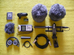 Soundscape Stuff (RafaFotos.flkr) Tags: green ikea pencil portable zoom microphones cable stuff headphones windjammer mic recording akg rode sseries soundscape h4n microfones rycote ntg2