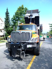 International dump truck with hot mix (D70) Tags: street canada hot speed truck work star mix bc with dump company international burnaby local adding harvester ih 2010 humps ihc july29th