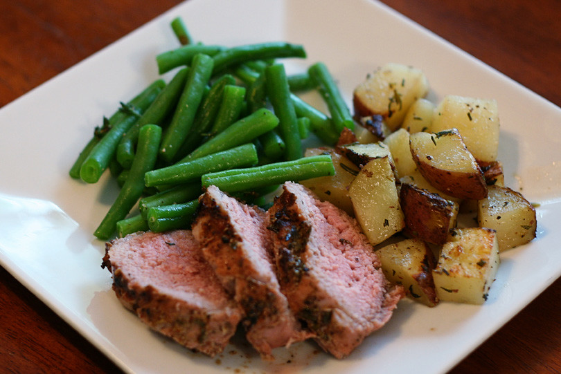 Pork Tenderloin, Roasted Potatoes & Green Beans
