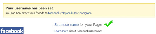 Set username for facebook pages | Anil Labs