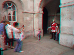 Harassing the guard in London 3D photo anaglyph (Stereomania) Tags: uk england london stereoscopic stereophoto stereophotography 3d anaglyph stereo stereoview 2010 londen