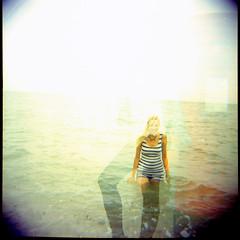 The Sea (AndyWilson) Tags: sea 120 film beach mediumformat claire lomo model kodak diana hastings 160vc portra diyc41 autaut